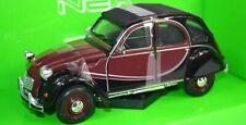 Citroen Charleston 2CV 1982 - Red/Black. 1/24 Welly Model Car, Brand New Gift