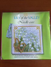 Lily of the Valley Needle Case Counted Cross Stitch Kit by Textile Heritage NCLV