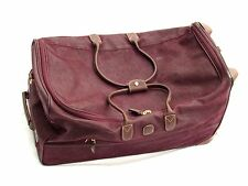 """BRIC'S Luggage Large 28"""" Rolling Duffle Eggplant Purple With Strap - Travel Gift"""