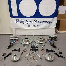 "Mustang II 13"" Big Brake Kit with 2"" Drop Spindles Dual Piston Caliper Hot Rod"