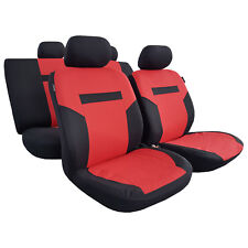 11pcs New Red Black Polyester Car Seat Covers Sports Design For Corolla C-HR