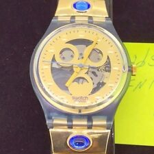 Swatch Originals Gold Smile GN123 1992 NIB Collectors Watch New In Box