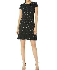 MICHAEL Michael Kors Flower-Dot Flounce Dress M