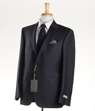 NWT $1795 CANALI 1934 Solid Charcoal Gray Twill Wool Suit 46 R Regular-Fit