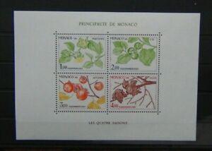 Monaco 1981 Seasons of the Persimmon Tree Miniature Sheet MNH