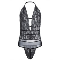 SISSY POUCH PANTIES Sexy Men's One Piece Bodysuit Lace Thong Lingerie Underwear