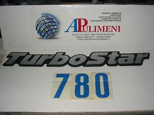 "LOGO SIGLA STEMMA FREGIO ""TURBOSTAR"" TURBOSTAR 190.33-190.36-190.42(ADESIVO)"