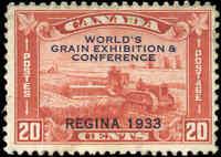 1933 Mint H Canada F+ Scott #203 20c Grain Exhibition Stamp