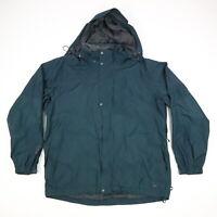 REI E1 Element Lined Hooded Rain Jacket Evergreen Mens XL