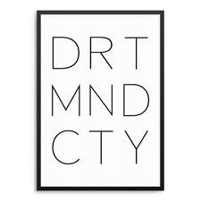 DORTMUND CITY Kunstdruck ArtPrint Städte Poster FineArt Typo Druck Minimalismus