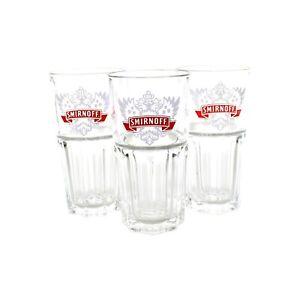 3x SMIRNOFF Vodka Gläser Set Harley LD Wodka Glas Longdrink Becher ~mn103 1015