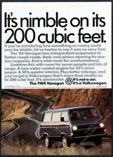 1984 VW Vanagon photo vintage Volkswagen print ad