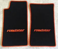 Autoteppich Fußmatten für Mazda MX 5 NA roadster schwarz orange 2teilig Neuware