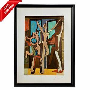 Pablo Picasso -  The Three Dancers, Original Hand Signed Print with COA
