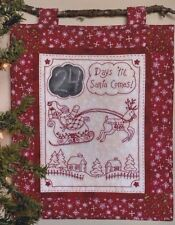 PATTERN - Days til Santa Comes - Christmas stitchery PATTERN - Bird Brain