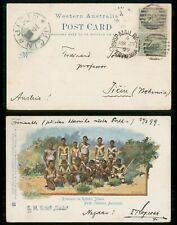 "MayfairStamps Western Australia 1899 Ship Mail ""Saida' to Bohemia Post Card wwi9"