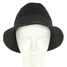 GAP Chic Bucket Fisherman Hat Navy Blue Charcoal Gray Wool Blend Unisex sz L/XL
