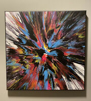 "Original Abstract Acrylic Painting On A 14""x14"" Canvas, Modern Wall Art"