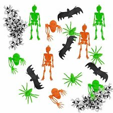 56pc Halloween Horror Table Decoration Set - Bats, Ghouls, Spiders, Skeletons