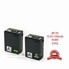 2x 1100mAh 13.2v BP-7 CM-7G Battery for ICOM IC-2AT 2GAT 3AT 4AT 4GAT 12AT 12GAT