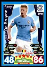 Match Attax 2017-18 Kevin De Bruyne Manchester City No. 194