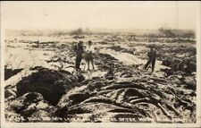Craters of the Moon Blue Dragon Lava Flow c1910 Real Photo Postcard