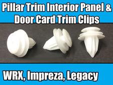 10x Clips For Subaru Pillar Trim Interior Panel & Door Card Trim White Plastic