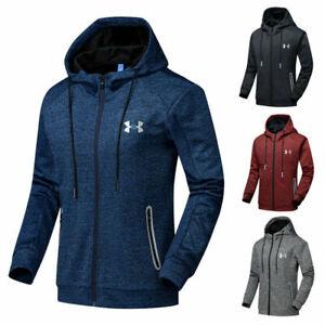 Mens Outwear Under Armour Zip Up Hoodie Jacket Sweatshirt Hooded Sports Coat Top