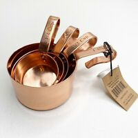 Copper 4-Pieces Measuring Cup Set Nesting or Hanging Baking Wayfair