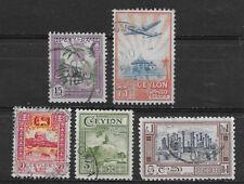 CEYLON , SRI LANKA , 1950 , SET OF 5  STAMPS , PERF , USED