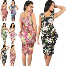 Polyester Plus Size Peplum Dresses for Women