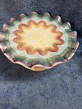 Mackenzie Child's Vintage Ruffled PEDESTAL RUFFLE Cake Stand in Brittany pattern