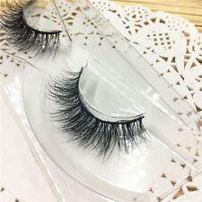 Long Soft 100%Real 3D Mink Fur Messy False Eyelshes Eye Lashes Extension