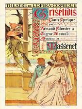 Publicité théâtre scène opera griselidis massenet paris art imprimé posterbb 7999B