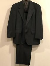 Vintage Evan-Picone 100% Pure Wool Striped Charcoal Gray Suits