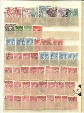 Grecia. Dos hojas de clasificador con mas de 100 sellos antiguos