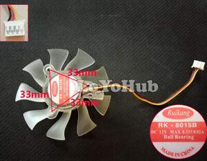 MSI 9800 9600 N240GT N250GTS-MD Blizzard graphics fan RK-8015B 12V 0.33A