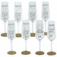Signography Sparkling Prosecco Flute Glass in Gift Box - Choose Design