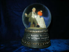 Norman Rockwell * Halloween * Waterglobe / Snowglobe Music Box * Rare *