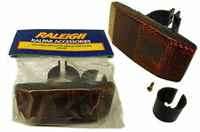 RALEIGH WIDE BIKE SEAT POST REAR REFLECTOR, FITS MOST BIKES & IDEAL FOR TRAILERS