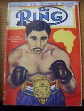 Apr-1952 anillo de la revista de boxeo: (arrugada/usado en columna vertebral, plegado)