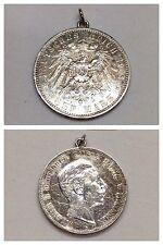 Pendentif Pièce De Monnaie Reich Allemand 5 Mark 1903 Remorque D'argent