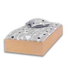 Struttura in legno letto singolo colore faggio 94x204xH30cm arredo casa 76041-41