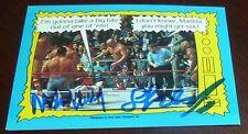Iron Sheik & Nikolai Volkoff Signed 1987 Topps WWF Card #74 WWE Autograph Auto'd