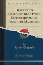 Description Geologica de La Parte Septentrional del Imperio de Marruecos (Classi
