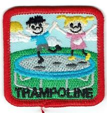 Girl Boy Cub TRAMPOLINE KIDS Jumping Fun Patches Crests Badges SCOUT GUIDE