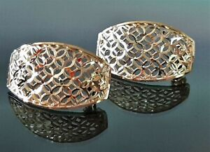 9ct Gold Ornate Stud Earrings, Weight 1.4g