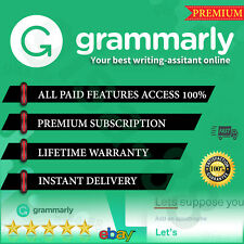 Grammar ly 🌟 Premium Account LIFETIME WARRANTY 🌟INSTANT DELIVERY 100% ✔️🌟 A++