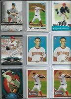 Lot of 9 2010 Bowman Topps Nationals Stephen Strasburg Rookie Baseball Cards RC