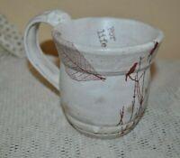 HANDMADE Pottery Ceramic Mug FOR LIFE  Leave Tree with Birds OOAK